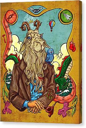 The Goatman Canvas Print by Baird Hoffmire