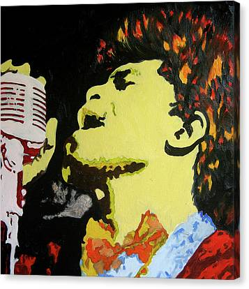 The God Father Of Soul James Brown Canvas Print by Ronald Young