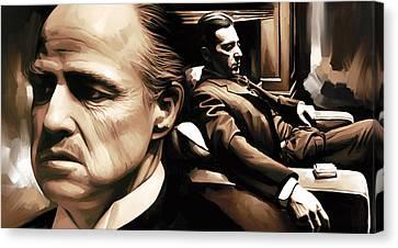 The Godfather Artwork Canvas Print by Sheraz A