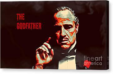 The Godfather Canvas Print by Binka Kirova