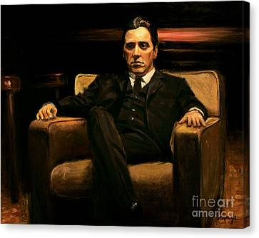 Michael Corleone Canvas Print - The Godfather by Christopher Panza