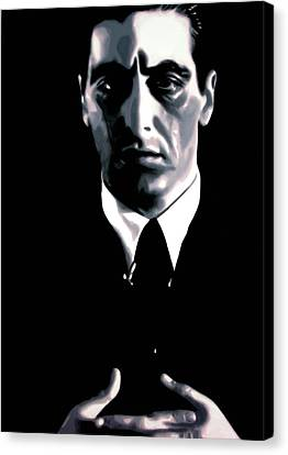 The Godfather Canvas Print by Luis Ludzska