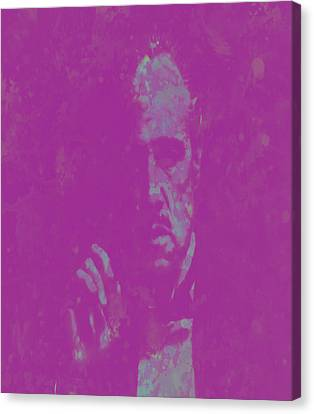 John Keaton Canvas Print - The Godfather Marlon Brando by Brian Reaves