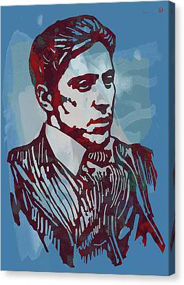 The Godfather - Stylised Etching Pop Art Poster Canvas Print