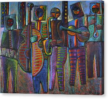 The Gods Of Music Come To New York Canvas Print by Gerry High