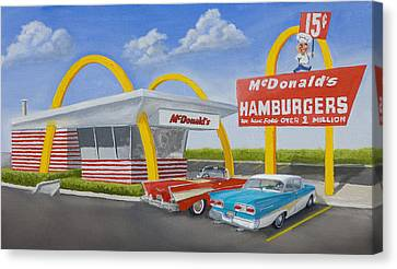 Dates Canvas Print - The Golden Age Of The Golden Arches by Jerry McElroy