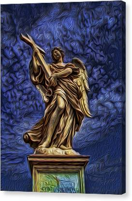 The Golden Angel Canvas Print by Lee Dos Santos