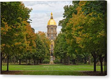 The Golden Dome Of Notre Dame Canvas Print by John M Bailey