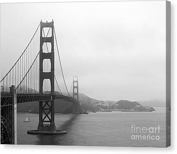 The Golden Gate Bridge In Classic B W Canvas Print