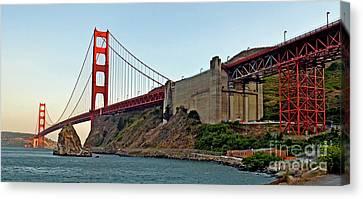 The Golden Gate Bridge  Canvas Print by Jim Fitzpatrick