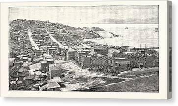 The Golden Gate San Francisco Engraving 1876 Canvas Print by English School