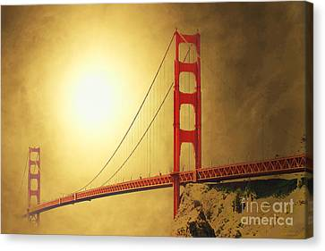 The Golden Gate Canvas Print by Wingsdomain Art and Photography