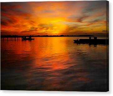 The Golden Hour Canvas Print by Karen Wiles