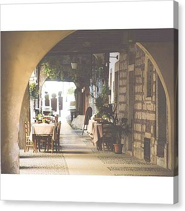 The Good Life  #italy #summer #dine Canvas Print by A Rey