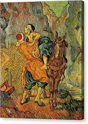 Parable Canvas Print - The Good Samaritan After Delacroix 1890 by Vincent Van Gogh