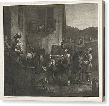 The Good Samaritan, Johannes Pieter De Frey Canvas Print by Johannes Pieter De Frey
