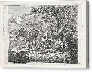 The Good Samaritan, Johannes Swertner Canvas Print by Johannes Swertner