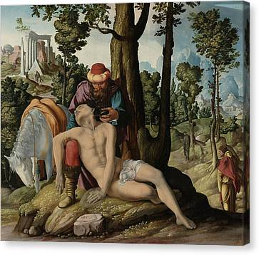 The Good Samaritan, The Master Of The Good Samaritan Canvas Print by Litz Collection