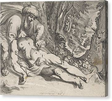 The Good Samaritan, Werner Van Den Valckert Canvas Print by Werner Van Den Valckert