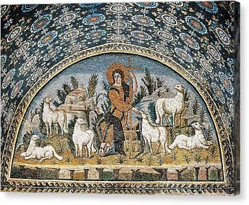 The Good Shepherd. 5th C. Italy Canvas Print by Everett