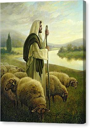 The Good Shepherd Canvas Print by Greg Olsen