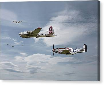 B17 Canvas Print - The Good Shepherd by Pat Speirs