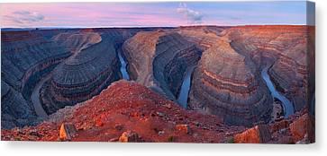 Colorado Plateau Canvas Print - The Goosnecks by Guy Schmickle