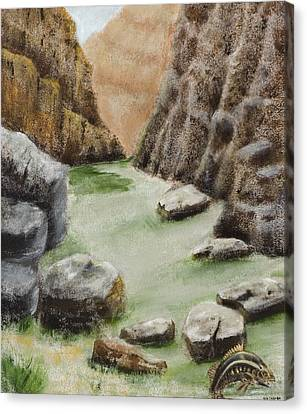 Canvas Print featuring the painting The Gorge by Susan Culver