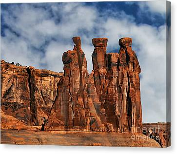 Canvas Print featuring the photograph The Gossips by Shirley Mangini