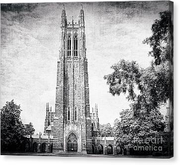The Gothic Cathedral At Duke University Canvas Print