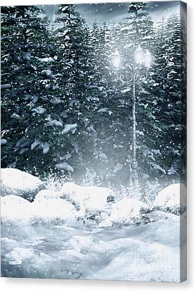 The Gothic Winter Canvas Print by Boon Mee
