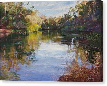 The Goulburn At Mclarty's Canvas Print by Lynda Robinson
