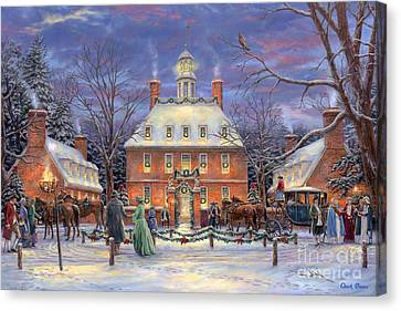 Seasons Canvas Print - The Governor's Party by Chuck Pinson