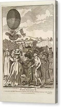 The Grand Air Balloon Canvas Print by British Library