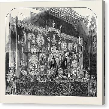 The Grand Buffet Canvas Print by English School