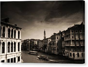The Grand Canal Canvas Print by Aaron Bedell