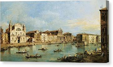 The Grand Canal Canvas Print by Francesco Guardi