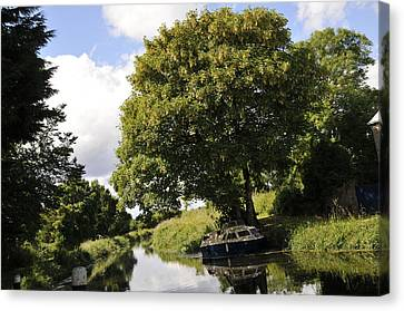 Canals And Slow Water  Canvas Print