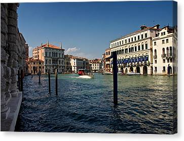 Canvas Print featuring the photograph The Grand Canal by Stephen Taylor