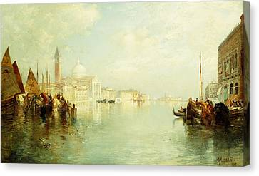 The Grand Canal Canvas Print by Thomas Moran
