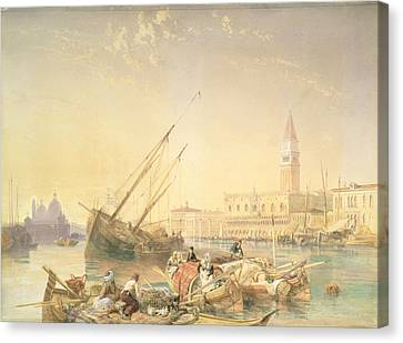 San Marco Canvas Print - The Grand Canal, Venice by James Duffield Harding