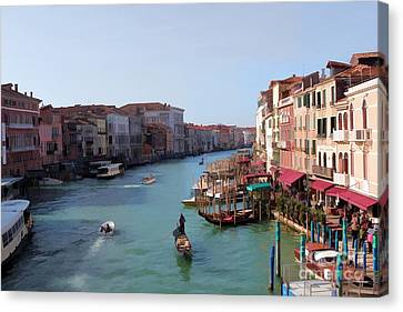 The Grand Canal Venice Oil Effect Canvas Print