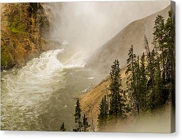 Canvas Print featuring the photograph The Grand Canyon Of Yellowstone by Yeates Photography