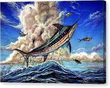 The Grand Challenge  Marlin Canvas Print by Terry Fox