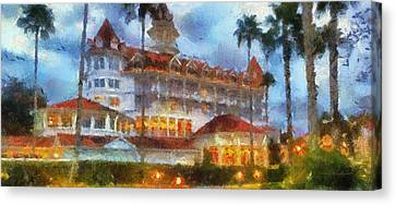 The Grand Floridian Resort Wdw 01 Photo Art Canvas Print by Thomas Woolworth