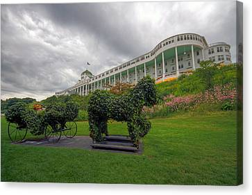 The Grand Hotel Mackinac Island Canvas Print by Jerry Gammon
