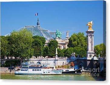 The Grand Palais And The Alexandre Bridge Paris Canvas Print by Michal Bednarek