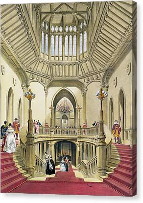 The Grand Staircase, Windsor Castle Canvas Print by English School