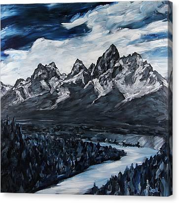 The Grand Tetons Canvas Print by Douglas Keil