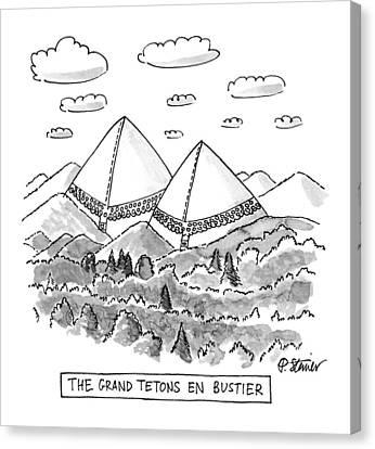 The Grand Tetons En Bustier Canvas Print